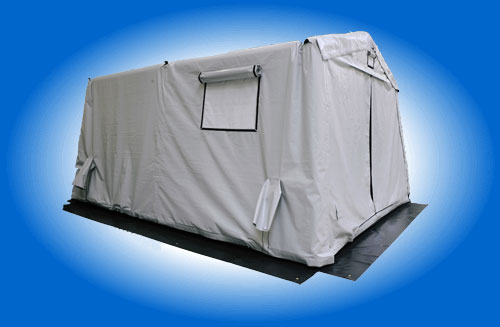 Inflatable Air Shelters Door Closed Gray