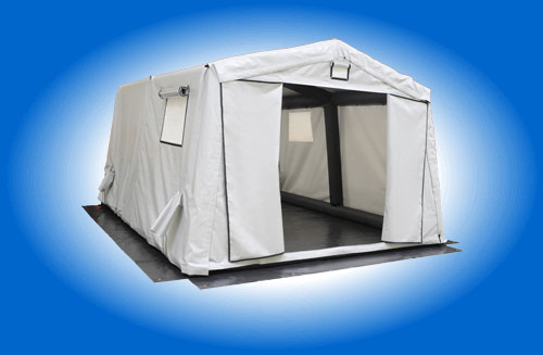 Inflatable Air Shelters Door open Gray
